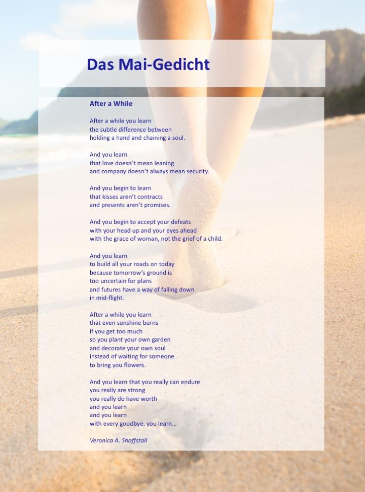 Das Mai Gedicht Wildwechsel